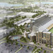 A conceptual sketch of Notre Dame Stadium.