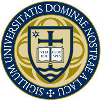 Blue and gold academic seal