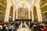 The Glee Club performs in the Cathedral of Santiago de Compostela in Spain
