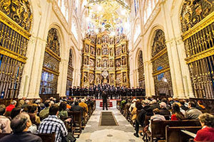 The Glee Club performs in Burgos Cathedral in Spain