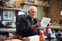 Father Hesburgh in his office (Nov 2011)