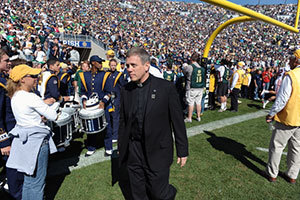 Rev. Mark Thesing, C.S.C., has been appointed chaplain of the University of Notre Dame football team