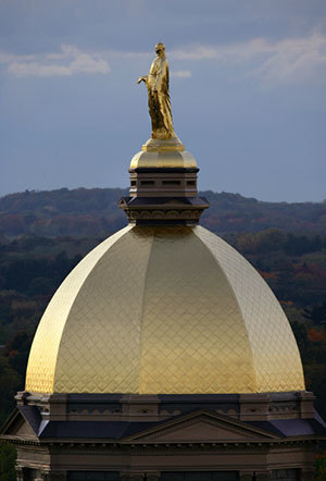 closeup of the Golden Dome