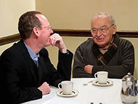 Paul Farmer, left, and Rev. Gustavo Gutiérrez