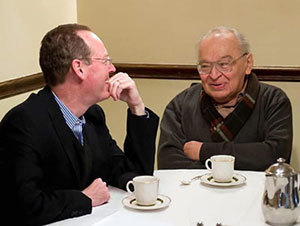 Paul Farmer, left, and Rev. Gustavo Gutiérrez, O.P.