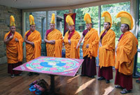 Closing ceremony of peace sand mandala