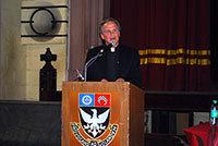 Rev. John I. Jenkins, C.S.C., gives an address Feb. 6 at St. Xavier's College in Mumbai