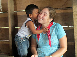 Peace Corps volunteer Tricia Wilbur in Panama