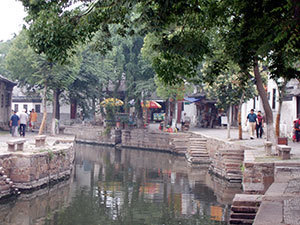 Canal and street, Tongli, China