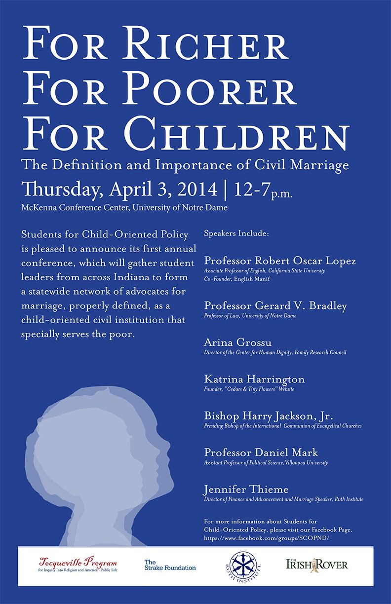 notre dame to host conference on civil marriage news notre for richer for poorer for children the definition and importance of civil