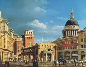 View of Paternoster Square around St. Paul's Cathedral as proposed (c) John Simpson Architects LLP