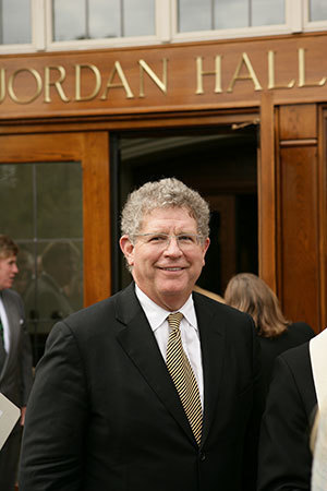 "Trustee John W. ""Jay"" Jordan at the Jordan Hall dedication"