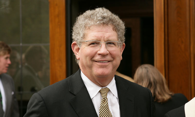 """Trustee John W. """"Jay"""" Jordan at the Jordan Hall dedication"""