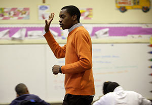 ACE teacher André Smith teaches at Cathedral School in New Orleans