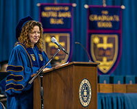 Kerry Ann Rockquemore gives the Commencement address at the 2014 Graduate School ceremony
