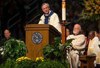 Rev. John I. Jenkins, C.S.C. president of the University of Notre Dame, gives the homily at the 2014 Commencement Mass