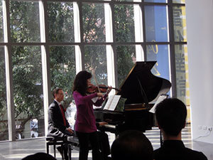 John Blacklow, Tricia Park and Peter Smith performing during last year's tour