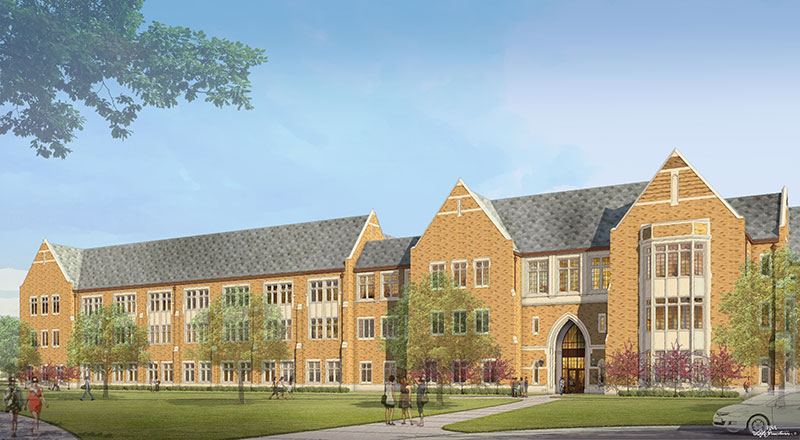 McCourtney Hall, west elevation