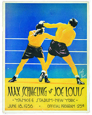 A program from the first Max Schmeling--Joe Louis heavyweight fight in 1936