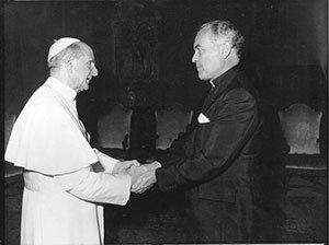 Rev. Theodore M. Hesburgh, C.S.C., with Pope Paul VI, 1960