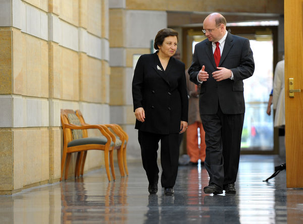 Shirin Ebadi and Scott Appleby