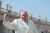 Pope Francis greets faithful in St. Peter's Square