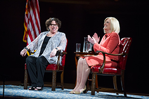 U.S. Supreme Court Justice Sotomayor talks about her career with NBC News correspondent Anne Thompson in the Leighton Concert Hall