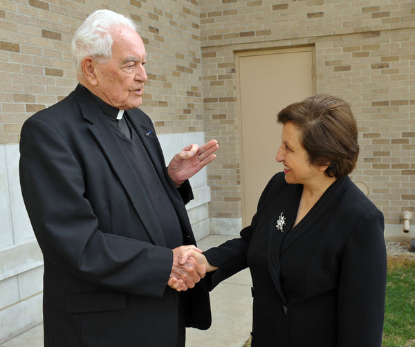 Shirin Ebadi and Rev. Theodore Hesburgh, C.S.C.