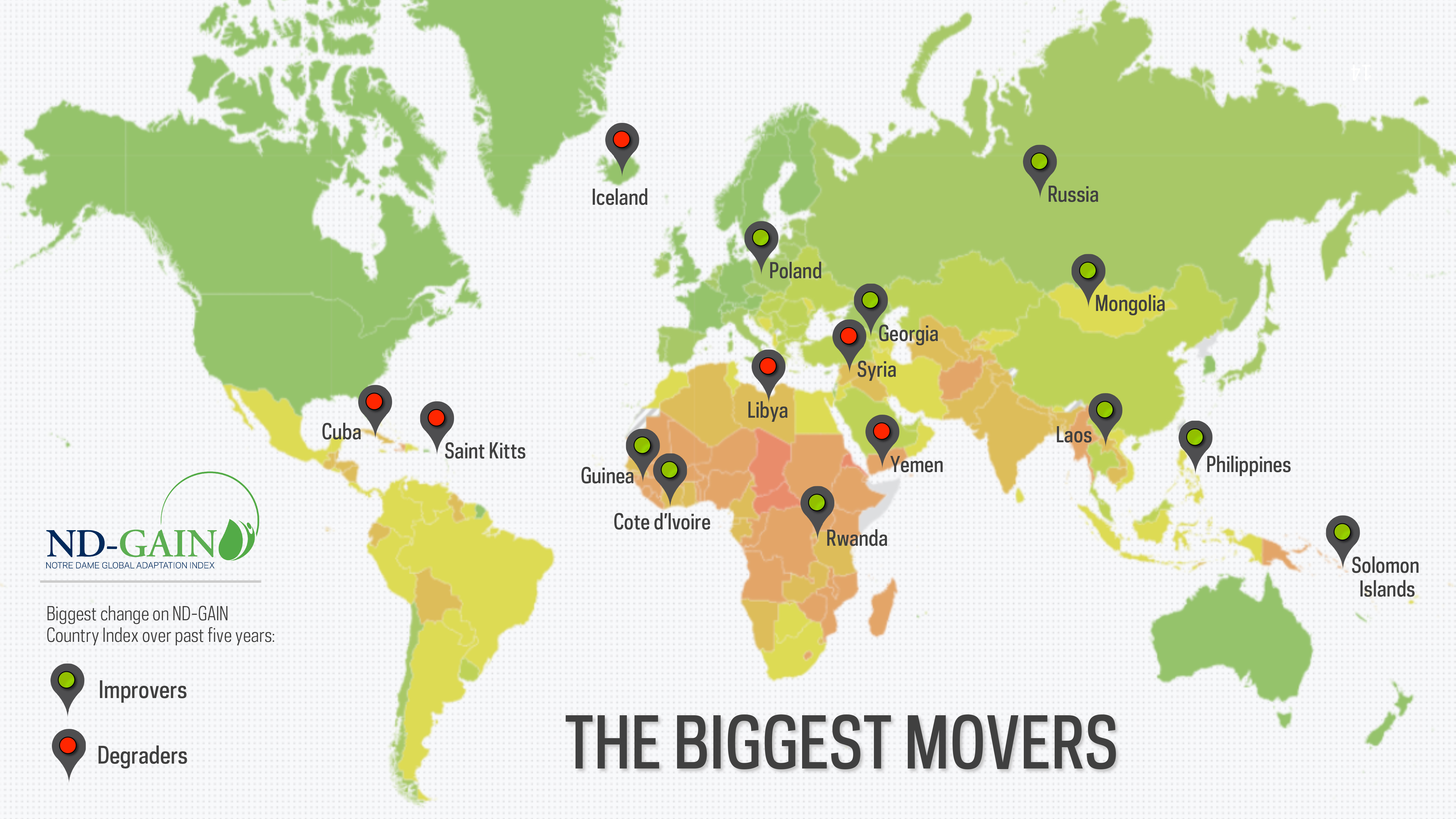 Countries on the rebound making significant climate adaptation nd gain 2015 movers map gumiabroncs Choice Image