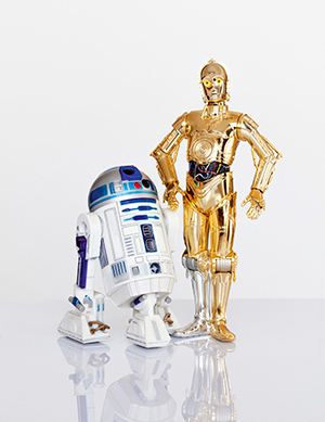 "R2-D2, left, and C-3PO droids from ""Star Wars"""