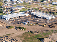 Aerial shot of the new Notre Dame Turbomachinery Laboratory