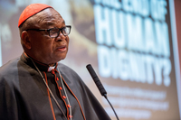 Cardinal John Onaiyekan, Archbishop of Abuja, Nigeria, opens the Institute for Church Life's 2016 Human Dignity conference by delivering the 2016 Human Dignity Lecture at McKenna Hall
