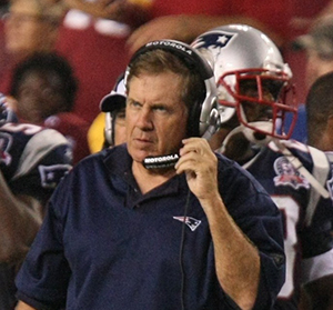Coach Bill Belichick during an Aug. 28, 2009, preseason game