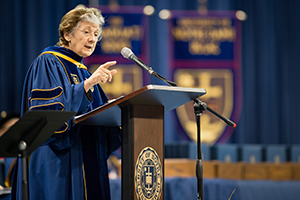 Rita Colwell speaks at the Graduate School Commencement ceremony