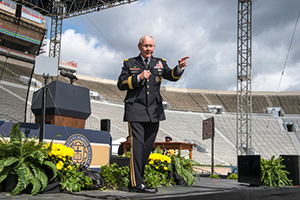 Gen. Martin Dempsey delivers the 2016 Commencement Address