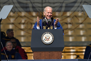 Vice President Joseph Biden addresses the Class of 2016