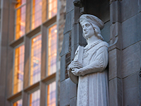 Statue of St. Thomas More, Biolchini Hall of Law