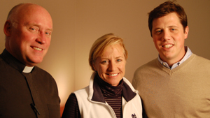 Rev. Thomas Streit, C.S.C., Sarah Craig and Logan Anderson