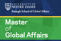 Keough School Master of Global Affairs