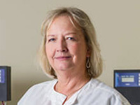 Toni Page-Mayberry, tissue bank consent coordinator at the Harper Cancer Research Institute