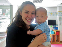 Emily Vincent at Chunmiao Little Flower with Baby Yu in 2015