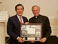 Ma Ying-jeou And Rev. John Jenkins, C.S.C.