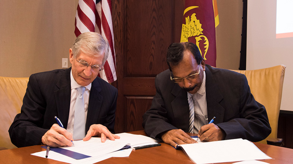 Recently Notre Dame signed a five-year memorandum of understanding with the government of Sri Lanka