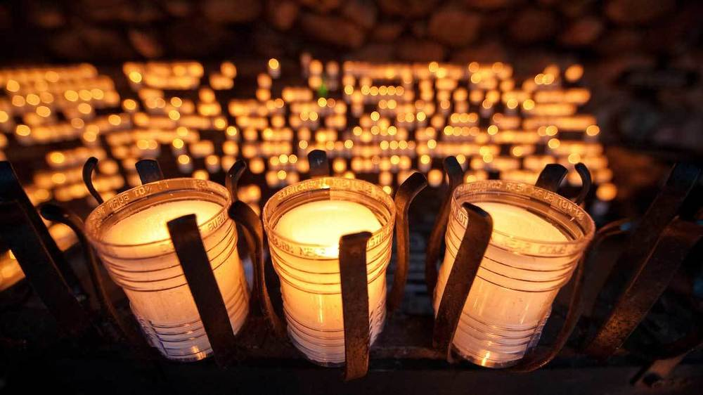 Candles in the Grotto
