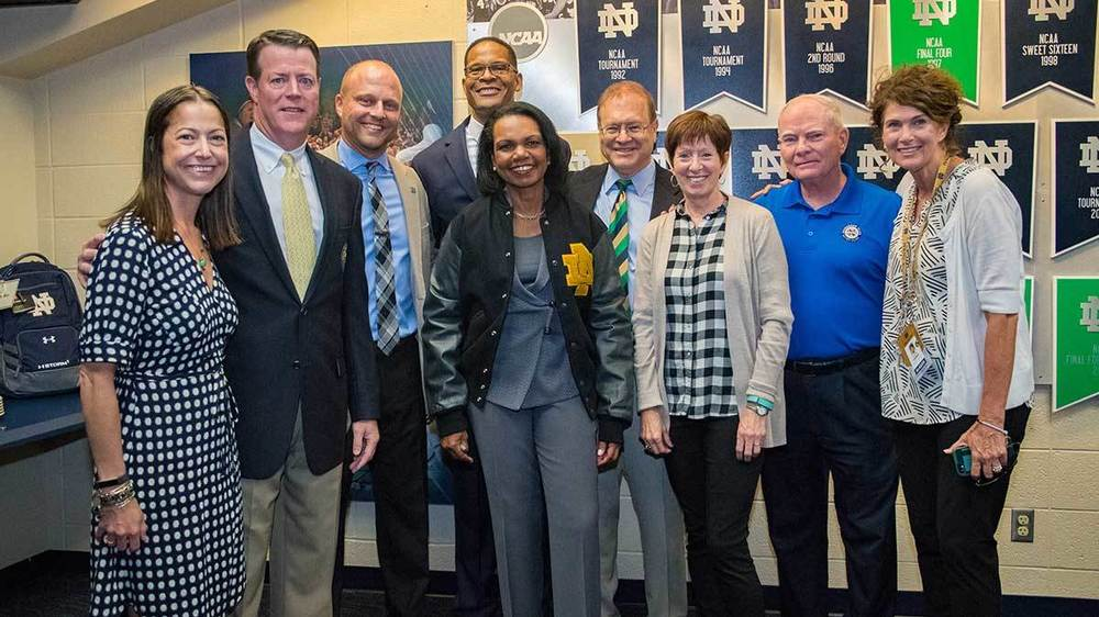 Condoleezza Rice recently received an honorary monogram