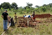 Notre Dame Architecture students begin the construction of a school in Uganda.