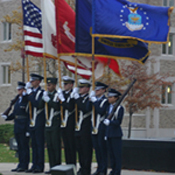ROTC flag ceremony