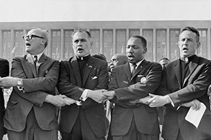 Father Hesburgh and Martin Luther King, Jr.