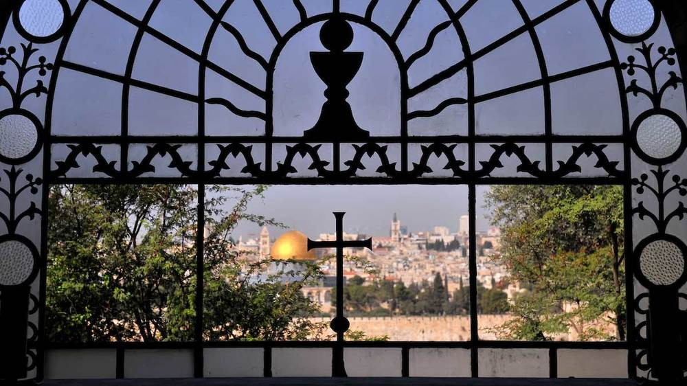 View of Jerusalem from Dominus Flevit Church