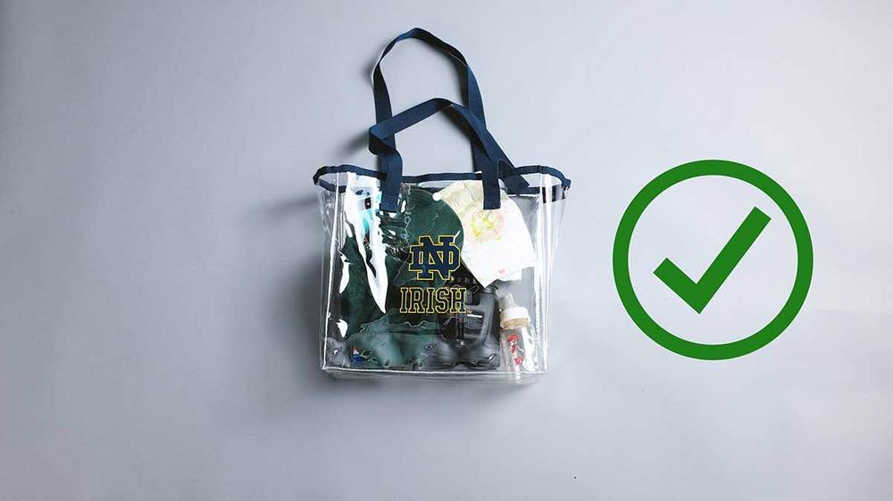 d245353a3fa2 Notre Dame to implement clear bag policy for reserve-ticketed events ...